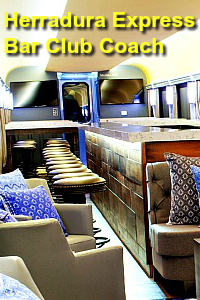 Tequila Herradura Express Train Club Bar Coach